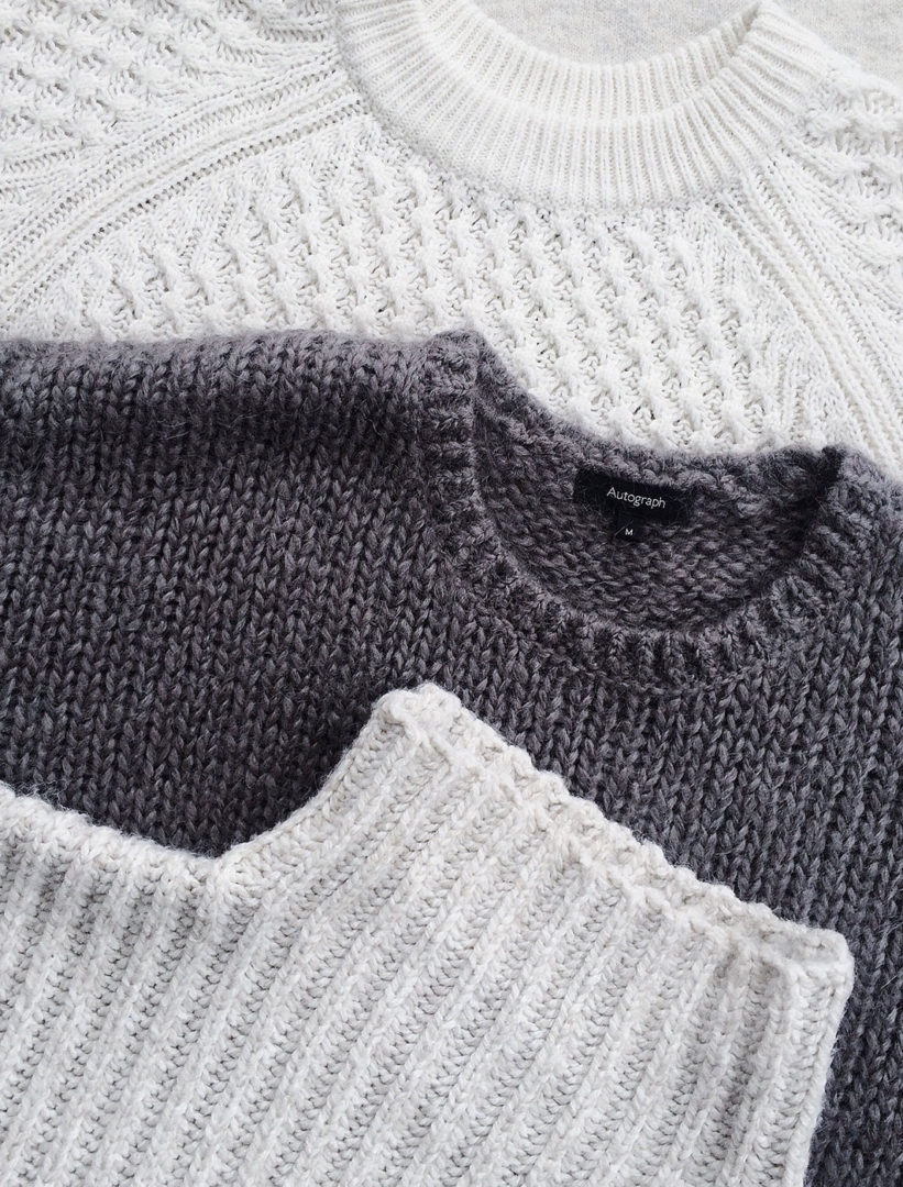 close up photo of three sweatshirts 1030946 e1576661759801 - Super soft funnel sweater