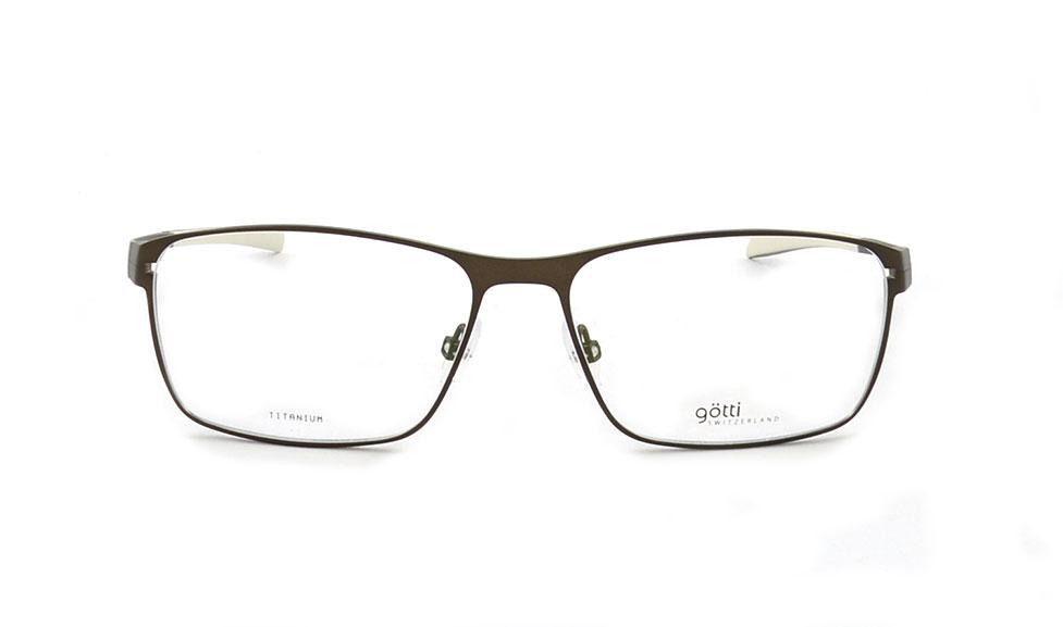 Götti Brille aus titan braun
