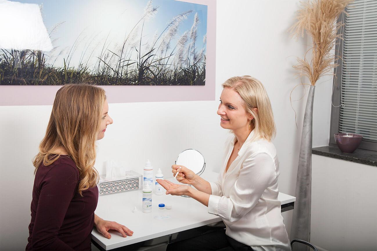 Kontaktlinsenhandhabung München